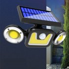 LED Solar Wall Light Outdoor Waterproof Motion Sensor Rotating Lamp for Garden Decoration White light