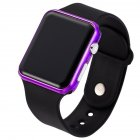 LED Square Casual Digital Watch with Rubber Band Sports Wrist Watches for Man Woman (colors optional) 8#
