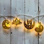 LED Sting Light House Shape Eid Mubarak Element Ramadan Islamic Indoor Home Party Decor Warm White