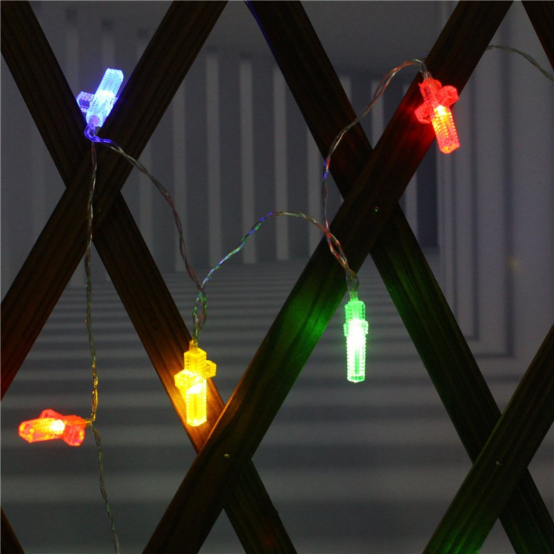 LED String Light Battery Powered Room Lamp Holiday Party Decoration color