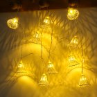 LED String Lights Battery Powered Lights Outdoor Decoration for Holiday Wedding Christmas Halloween yellow