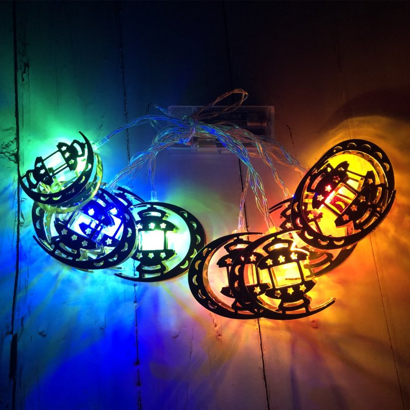 LED String Lights Ramadan Star Moon Party Eid Mubarak Ramadan Decorations Hanging Pendant color