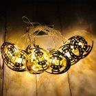 LED String Lights Ramadan Star Moon Party Eid Mubarak Ramadan Decorations Hanging Pendant Warm White