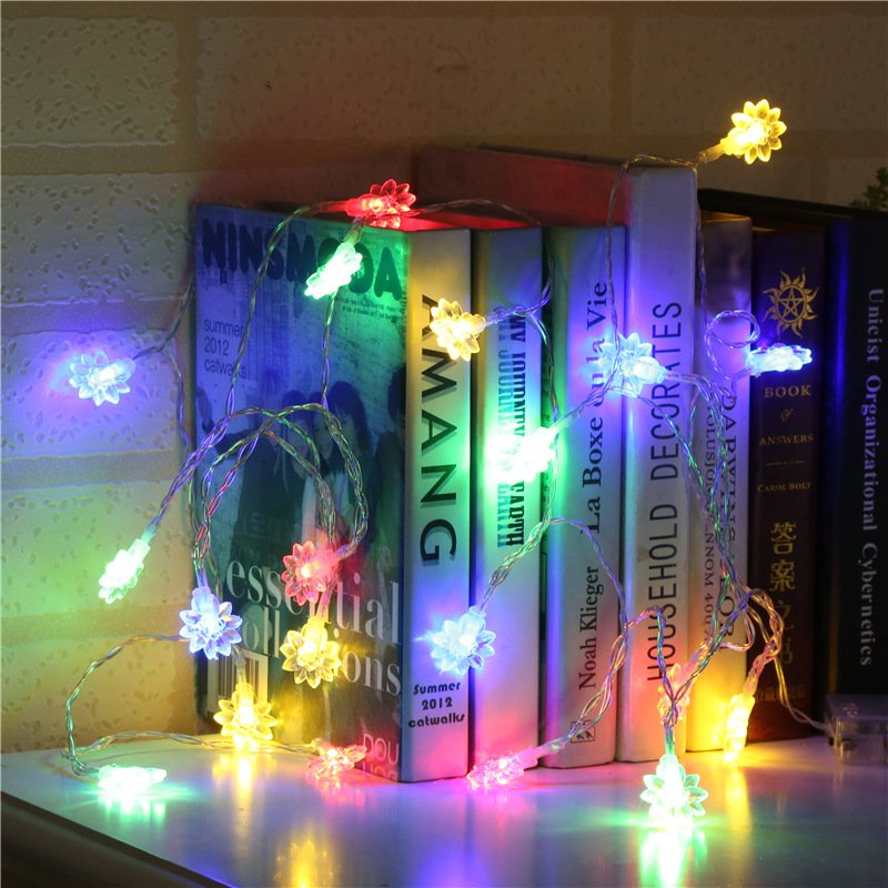 LED Sunflower String Light Battery Powered Lamp for Home Festival Decor colors