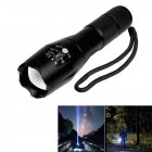 LED Telescopic Focusing Flashlight 5 Modes Strong Light Hand Flashlight  T6 high-end version