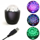 LED Vehicle Crystal Magic Ball Light Night Lamp with Voice Control for Home KTV Bar Car Supplies   RGB color change