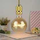 LED Warm Yellow Light Edison Bulb E27 Round Love Letter Lamp Home Decoration