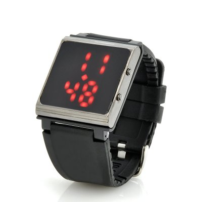 LED Watch w/ Rubber Strap + iPod Holder