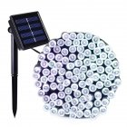 LED Waterproof 8 Functions Solar Powered String Light for Christmas Garden Landscape Decor 100 lights - white