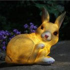 LED Waterproof Rabbit Shape Solar Powered Lamp Landscape Ornament  17x14x10cm
