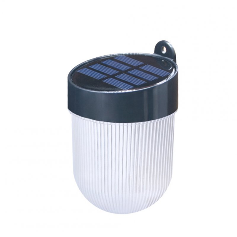 LED Waterproof Solar Wall Lamp with Double Color Light Source for Garden Yard Corridor Black shell