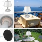 LED Waterproof Stainless Steel Solar Powered Table Lamp Basic Desk Lamp for Bedroom Outdoor  white light