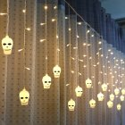 LED Window Curtain String Light Party Hallowmas Outdoor Indoor Wall Decorations Warm White_3.5 m 96 LED hoe_European standard 220V