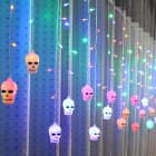 LED Window Curtain String Light Party Hallowmas Outdoor Indoor Wall Decorations color_3.5 m 96 LED pumpkin_European standard 220V