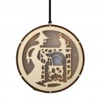 LED Wooden Hollow Light Round Shape Hanging Pendant Holiday Party Decorative Night Light JM01495