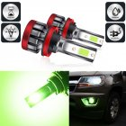 LED headlight front fog lamp 9-30 V 3000LM car modified green lime light bulb  H8/H11