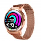 Original LEMFO ELF1 Smart Bracelet 1.3 Inch Full Touch Screen Heart Rate Monitor Blood Pressure Metal Case Smartwatch Gold