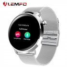 LEMFO Smart Watch C10 IP68 Waterproof Heart Rate Blood Pressure Monitor Smart Watches Men Women Fitness Tracker for Android IOS Silver