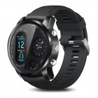 LEMFO T3Pro Smart Watch Heart Rate Sleep Monitor Dual Time Zone Smart Watch black