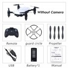 LF602 Wifi FPV RC Drone Quadcopter FPV Profesional HD Foldable Camera Drones Altitude Hold Standard 1 battery white