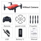 LF602 Wifi FPV RC Drone Quadcopter FPV Profesional HD Foldable Camera Drones Altitude Hold Standard 1 battery red