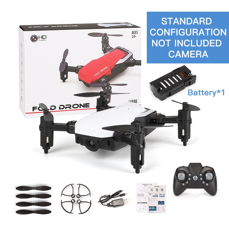 LF606 Mini Drone with Camera Altitude Hold RC Drones with Camera HD Wifi FPV Quadcopter Dron RC Helicopter VS Z1, JDRC JD-16, HDRC D2, SM M1 Standard without camera white
