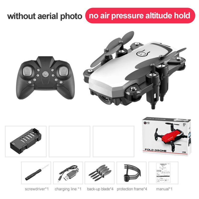 LF606 Mini Drone with Camera Altitude Hold RC Drones HD Wifi FPV Quadcopter Drone RC Helicopter Standard version without camera