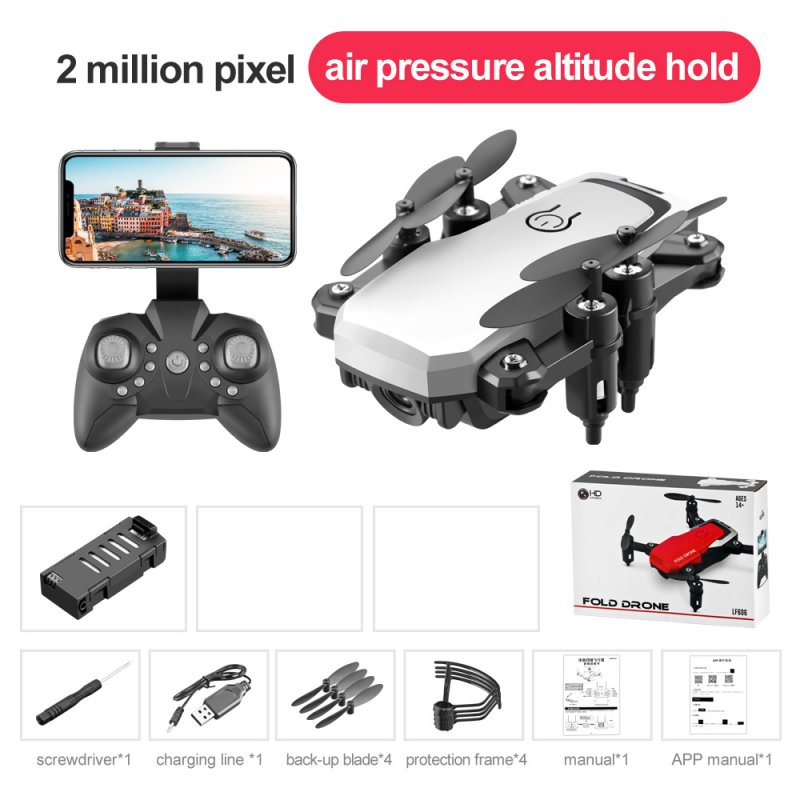 LF606 Mini Drone with Camera Altitude Hold RC Drones HD Wifi FPV Quadcopter Drone RC Helicopter 2M