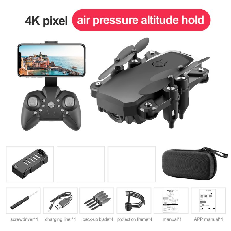 LF606 Mini Drone with Camera Altitude Hold RC Drones with Camera HD Wifi FPV Quadcopter Drone RC Helicopter 4K