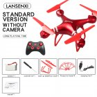 LF608 Wifi FPV RC Drone Quadcopter with 0.3MP/2.0MP/5.0MP Camera Get the Longer Playing Time Red without camera