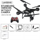 LF608 Wifi FPV RC Drone Quadcopter with 0.3MP/2.0MP/5.0MP Camera Get the Longer Playing Time Black without camera