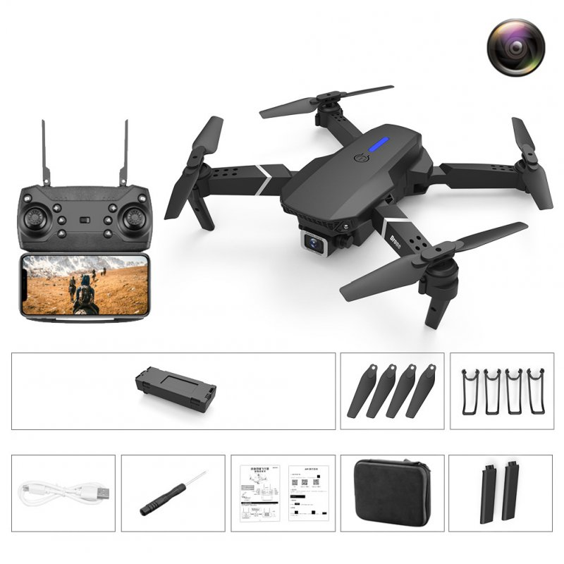 LS-E525 PRO Three Side Obstacle Avoidance HD RC Quadcopter 1080P pixel single lens storage bag_3 battery package