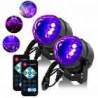 LUNSY 2PCS Portable LED 6 Colors Sound Actived Crystal Magic Ball Stage Party Light with Remote Control  85 265V Disco Ball Lamp Set for Party  KTV  Club