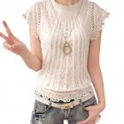Ladies Loose Crochet Lace Shirt