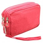 Lady Phone Wallet Package 3 Layers Handbag Cross Section Clutch Bag Large Capacity Valentines Gift watermelon red