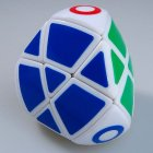 LanLan Mastermorphix Pillowed 4-Colored Puzzle Cube White