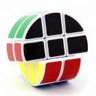 Lanlan Magic Cube Round 2X3X3 Cylindrical Sticker Smooth Speed Cube Educational Toy White background