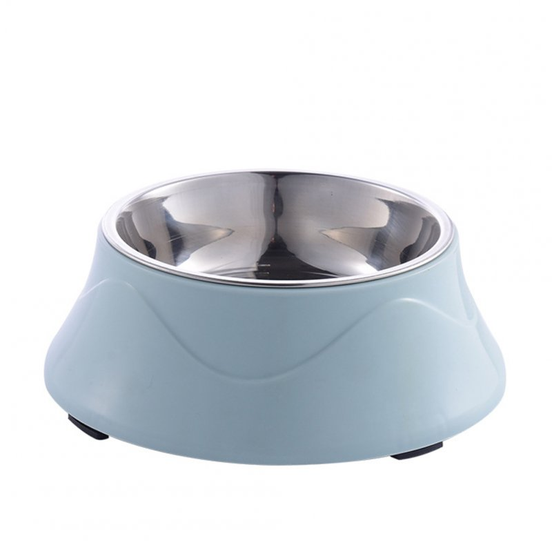 Large Dual Purpose Double Layer Nonslip Pet Bowl for Large Dogs Eating Drinking Blue 19.2*7cm