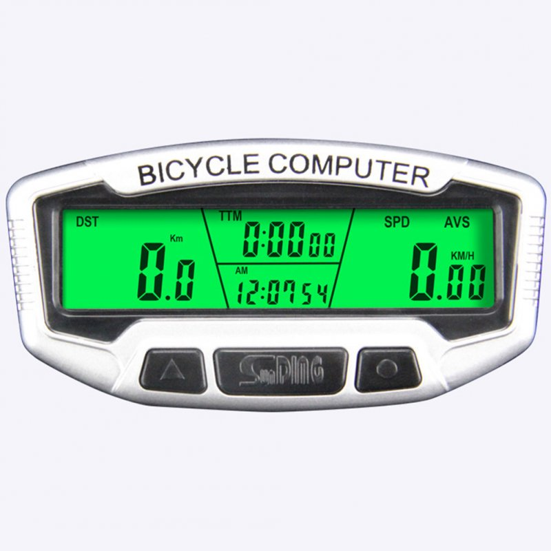 Large LCD Display Bicycle Bike Cycling Computer Odometer Speedometer Stopwatch SD-558C
