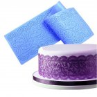 Large Long Flower Pattern Lace Silicone Mold for Fondant Cakes Decor