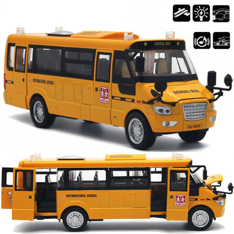 Back Alloy Diecast School Bus Gifts