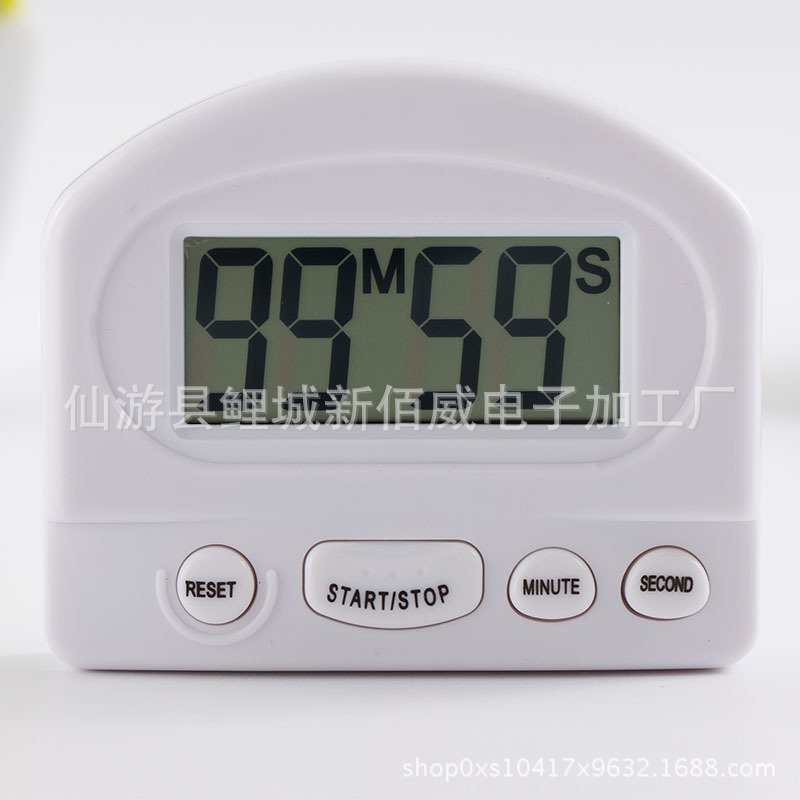 Large Screen Magnetic LCD Digital Kitchen Countdown Timer Stopwatch Alarm with Stand Kitchen Timer  white