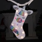 Large Size Christmas Stocking Candy Bag for Home Party  Xmas Tree Decor Lighted