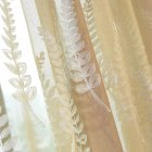 Lavender Embroidery Tulle Curtain for Home Living Room Bedroom Shading Brown_1 * 2.5 meters