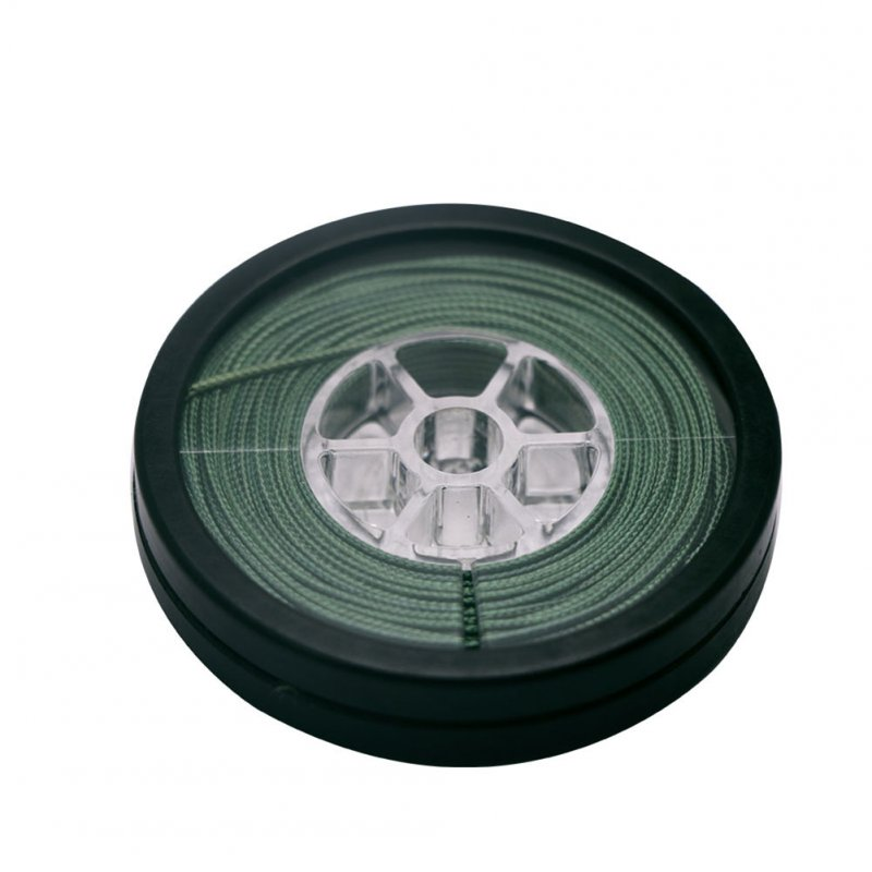 Lead Core Carp Fishing Line 10 Meters for Carp Rig Making Sinking Braided Line Dark green_25LB