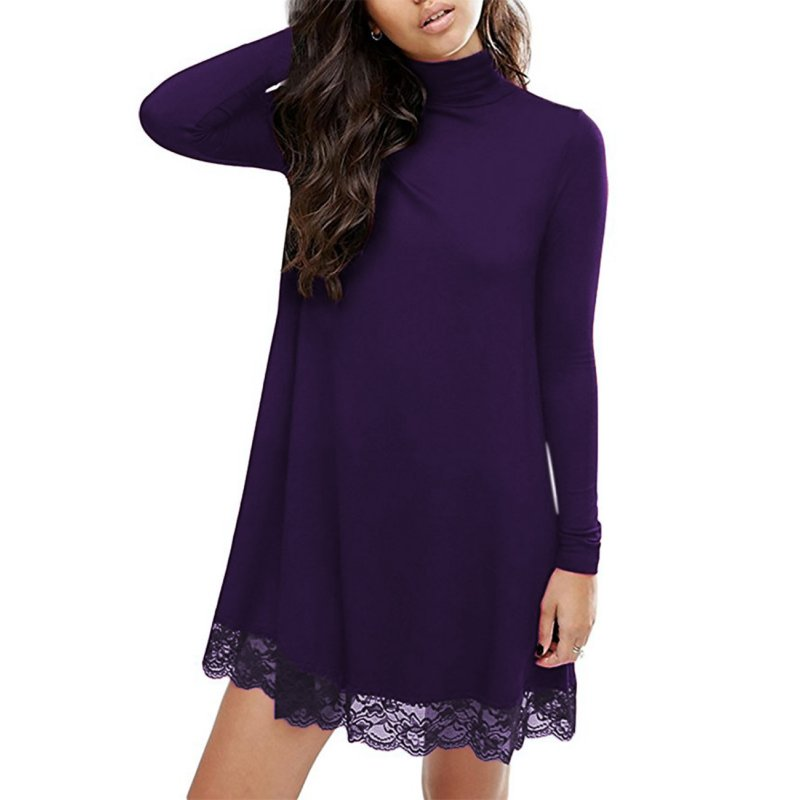 Leadingstar Lace Turtleneck Dress