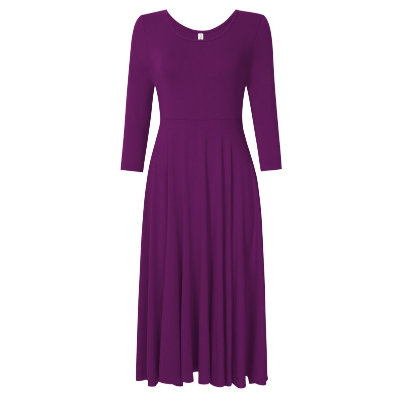 Leadingstar Women's Casual Dress Purple XL