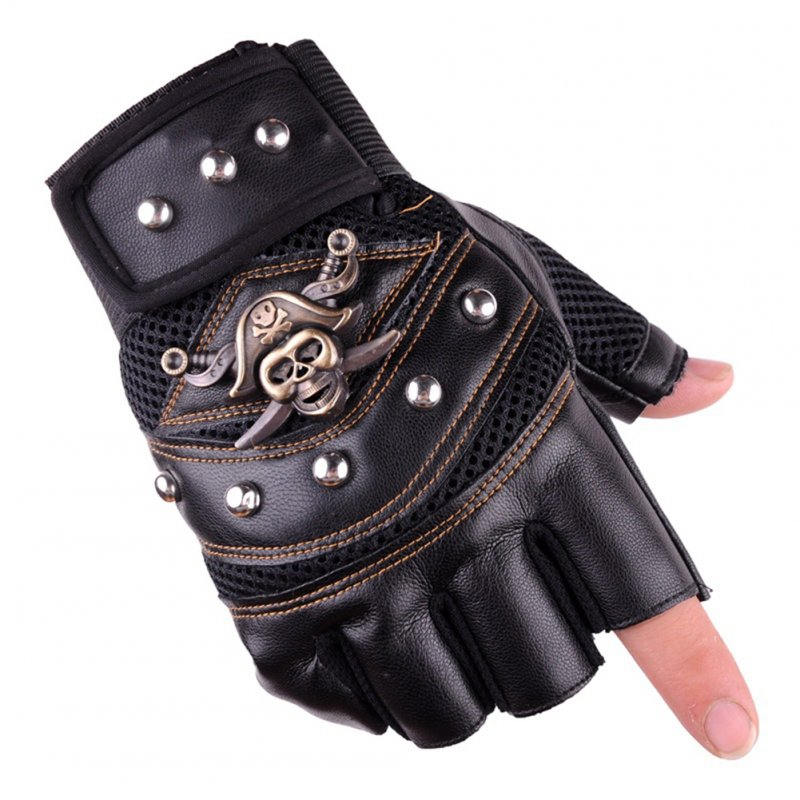 Leather Gloves Half Fingers