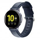 Leather Watch Strap for Sumsung Galaxy Watch Active/Active 2 Midnight Blue L Code