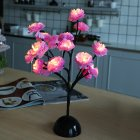 Led Camellia Flower Branch Lamp for Dining Table Room Bedroom Shop Decoration Night Light